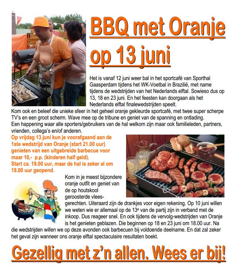 BBQ met oranje