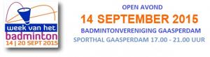 Badminton - banner 2015 open avond